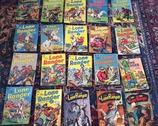Collection of Lone Ranger comics late 1940s into about 1951
