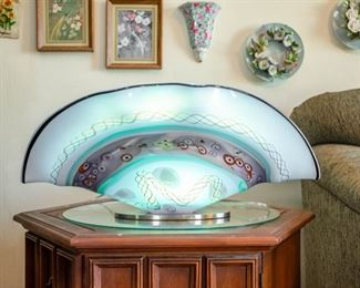 GROOVY CLAM SHELL LAMP.