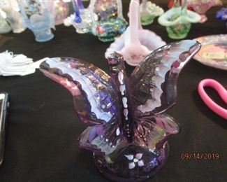 Fenton butterfly - hand painted and signed
