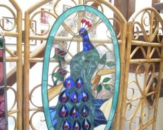 Peacock Stained Glass Hanging piece
