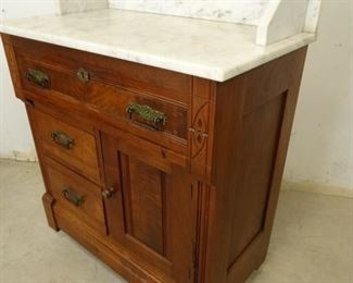 Antique Marble Top Vanity Table