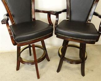 Black Leather Barstools
