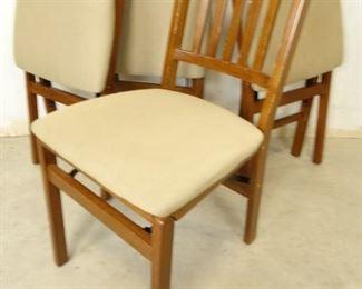 Folding Wooden Kitchen Chair Set