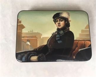 Russian Black Lacquer Box