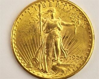 Twenty Dollar Gold Coin 1924