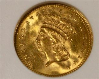 1862 Princess Gold coin $1