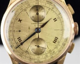 Suisse Chronographe Watch 18K