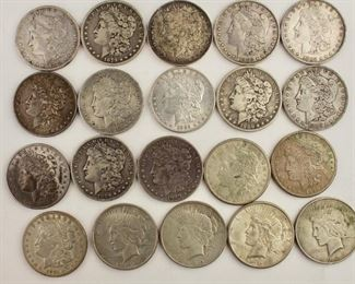 Groups of Silver Dollars