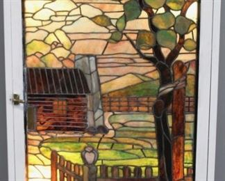 Large Leaded Glass Window