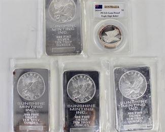 .999 Silver Bars