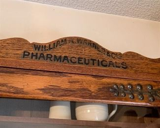 Antique Pharmaceuticals/Pharmacy Advertising Wall Cabinet