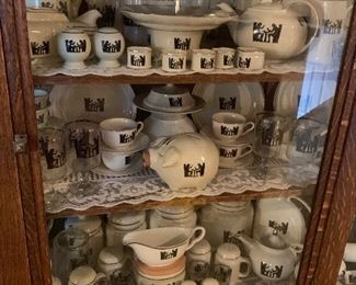 Large Collection of Halls Silhouette China