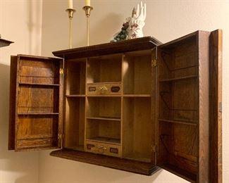 Vintage Kaufman's Oak Medicine Cabinet
