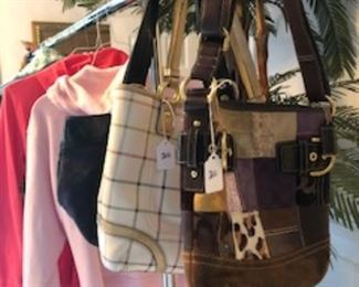 Purses and winter jackets