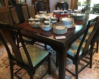 Century Dining Table and 6 Chairs Chin Hua by Raymond Sobato