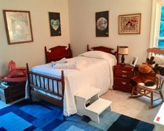 Pair of Jenny Lind Barley Twist Single Beds