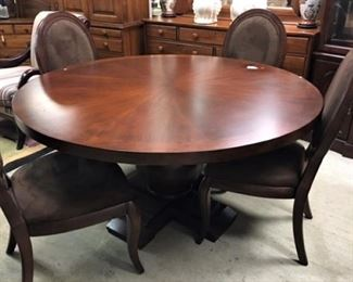 Arhaus Round Dining Table and Chairs