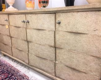 Contemporary gray crackle finish Sideboard by Stanley Furn.