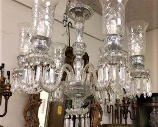 From a selection of crystal Chandeliers