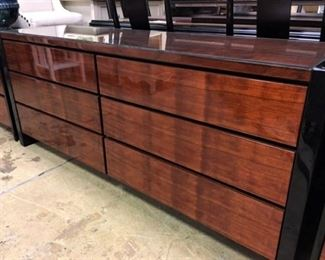 Matching Rosewood and Lacquer Dresser night stands available