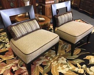 Pair Modern Chairs by Swaim