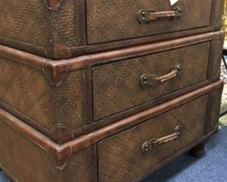 Rattan and Leather Chest
