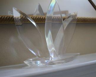 Lucite sculpture.