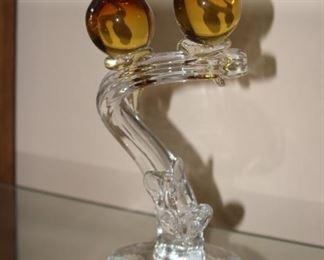 Murano glass lovebirds.
