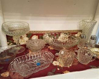Vintage glass serving dishes