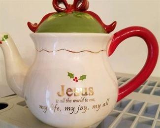 Jesus tea pot