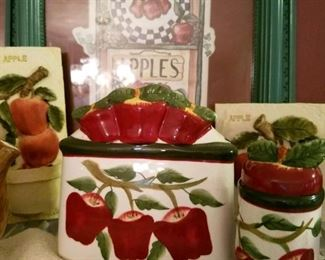 Apple decor and dishes