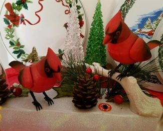 Red cardinal figurines