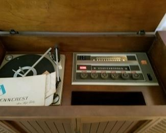 Vintage console radio & record player
