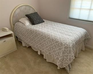 Twin size headboard and mattress