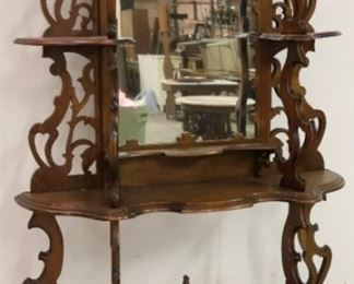Victorian walnut carved etagere