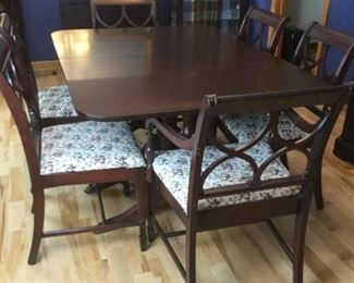 Mahogany dining room table and chairs https://ctbids.com/#!/description/share/235806