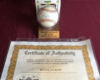 Reggie Jackson Autographed Baseball https://ctbids.com/#!/description/share/235826