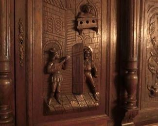 Detail of Carving on Door Panel