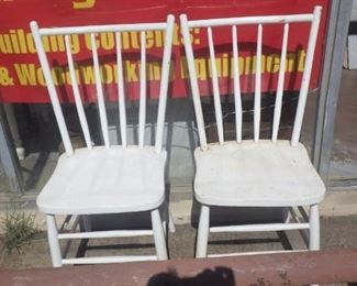 Two old wooden chairs