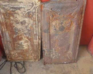 Old ceiling tins with eagles