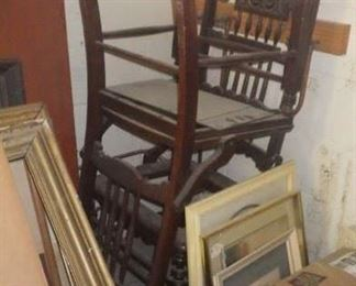 Lots of antique chairs