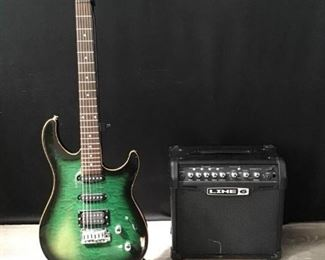 Peavey Electric Guitar and Line6 Amp
