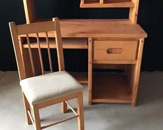Solid Wood Childrens Desk with Chair