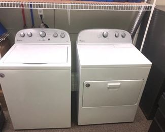 Whirlpool White Washer and Electric Dryer - hardly used - purchased at Bekins for $1,269 ($599 each)