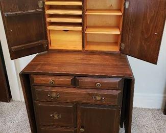 Wooden Sewing Cabinet https://ctbids.com/#!/description/share/235704