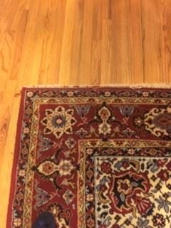 Carpet in fair condition. 15'X 8'8