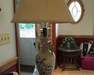 Hand Painted lamp from Germany ca. 1890