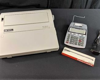 Smith Corona XL 2900 electric typewriter, Canon electric calculator and accessory