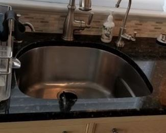 Stainless steel sink & faucet