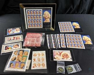 Marilyn Monroe Stamps and Casino Chips